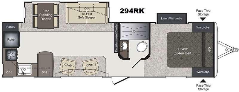 Laredo 294RK Floorplan Image