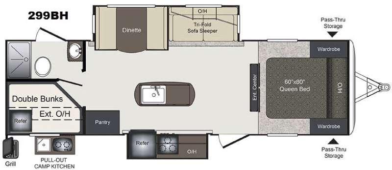 Laredo 299BH Floorplan Image