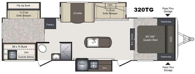 Laredo 320TG Floorplan Image