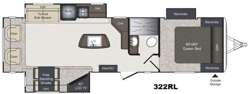 Floorplan - 2016 Keystone RV Laredo 322RL