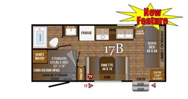 Floorplan - 2016 Outdoors RV Black Rock 17B