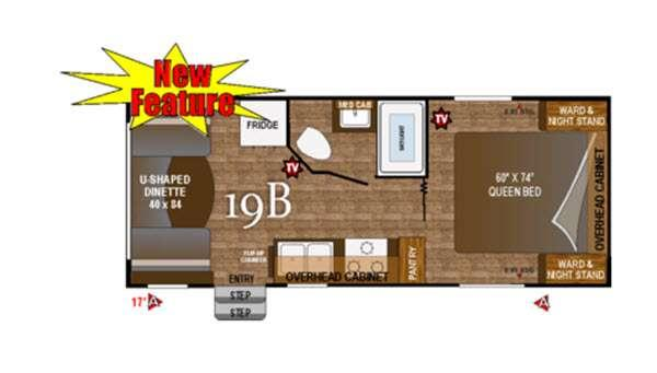 Floorplan - 2016 Outdoors RV Black Rock 19B
