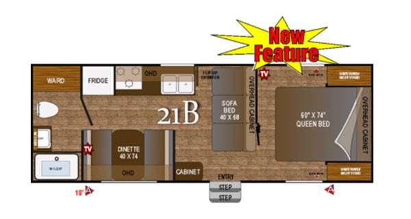Floorplan - 2016 Outdoors RV Black Rock 21B
