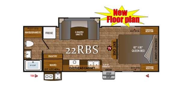 Floorplan - 2016 Outdoors RV Black Rock 22RBS