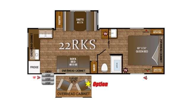 Floorplan - 2016 Outdoors RV Black Rock 22RKS