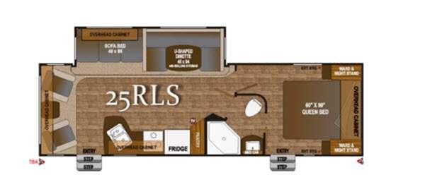 Floorplan - 2016 Outdoors RV Black Rock 25RLS