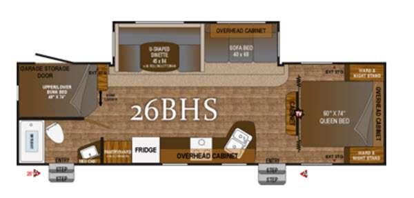 Floorplan - 2016 Outdoors RV Black Rock 26BHS
