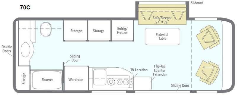 Floorplan - 2016 Winnebago Era 70C