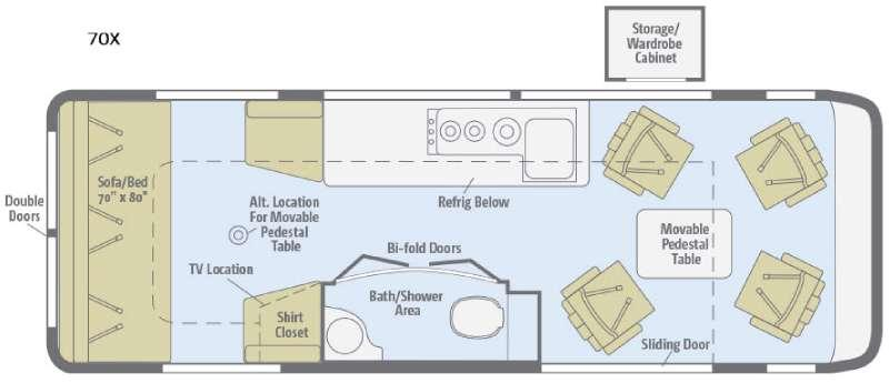 Floorplan - 2016 Winnebago Era 70X