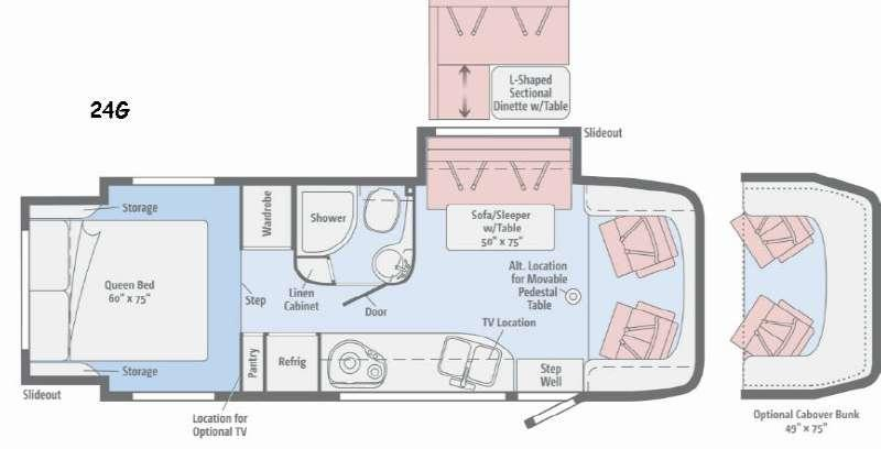 Floorplan - 2016 Winnebago View 24G