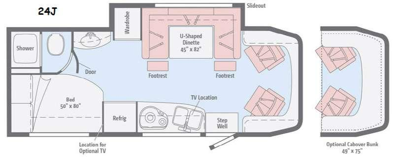 Floorplan - 2016 Winnebago View 24J