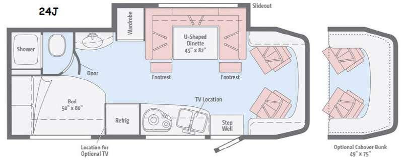 Floorplan - 2016 View 24J Motor Home Class C - Diesel