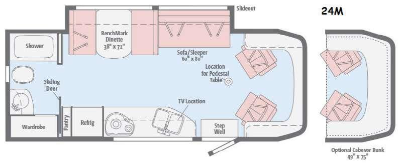 Floorplan - 2016 Winnebago View 24M