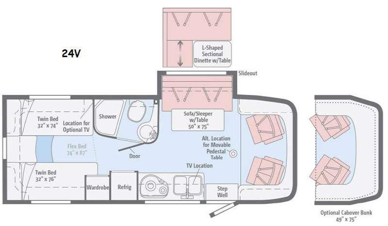 Floorplan - 2016 Winnebago View 24V