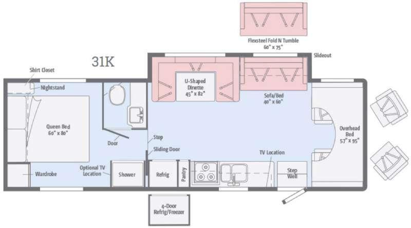 Floorplan - 2016 Itasca Spirit 31K