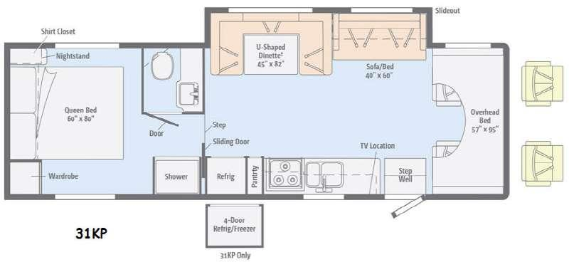 Floorplan - 2016 Itasca Spirit 31KP