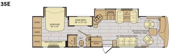 Floorplan - 2016 Fleetwood RV Excursion 35E