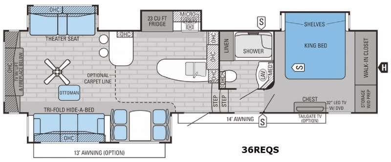 Pinnacle 36REQS Floorplan Image