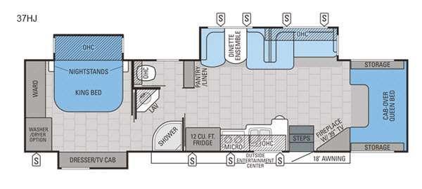 Floorplan - 2016 Jayco Seneca 37HJ