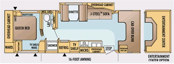 Floorplan - 2007 Jayco Greyhawk 31 SS