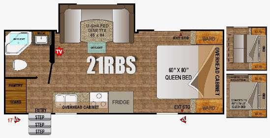 Floorplan - 2016 Outdoors RV Creek Side 21RBS