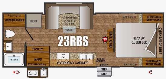 Floorplan - 2016 Outdoors RV Creek Side 23RBS