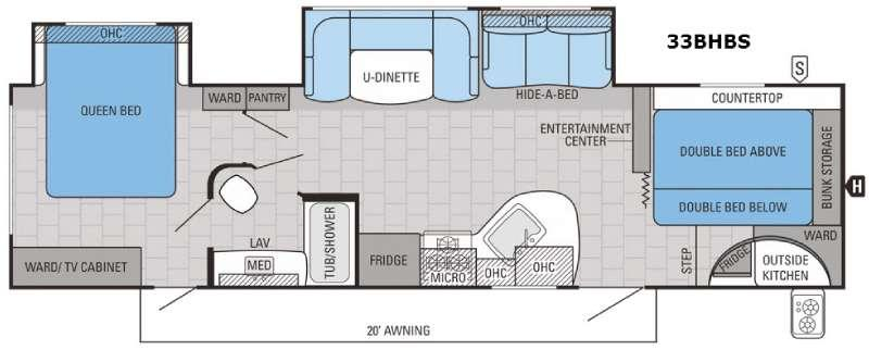 White Hawk 33BHBS Floorplan Image