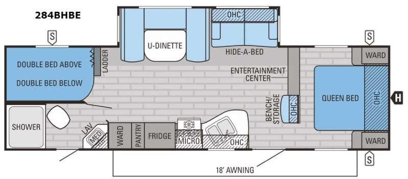 Eagle 284BHBE Floorplan Image