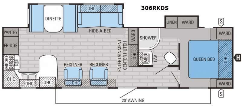 Eagle 306RKDS Floorplan Image