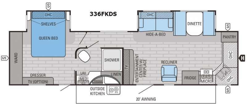 Eagle 336FKDS Floorplan Image