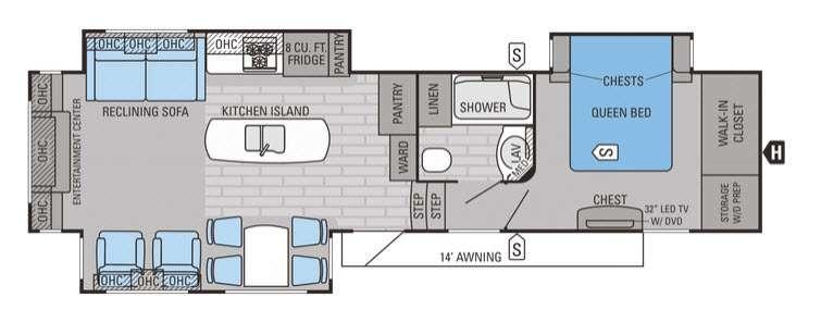 Eagle Premier 331RETS Floorplan Image