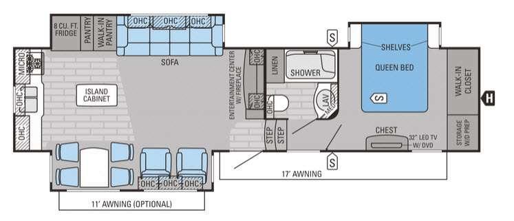 Eagle Premier 331RKTS Floorplan Image