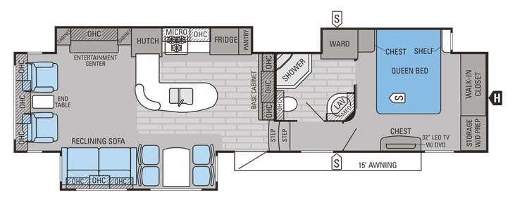 Eagle Premier 351MKTS Floorplan Image