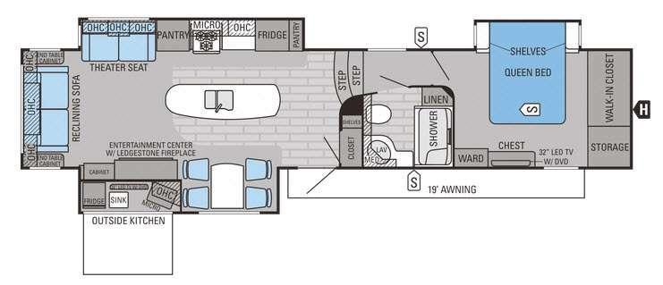 Eagle Premier 351RSTS Floorplan Image