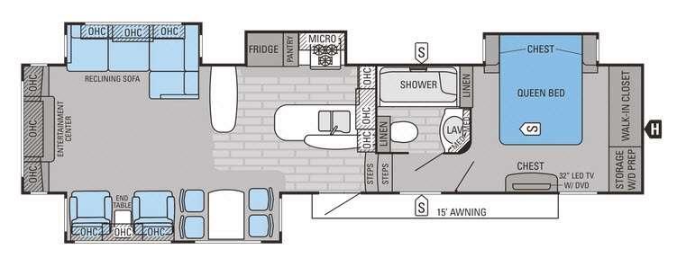 Eagle Premier 361REQS Floorplan Image