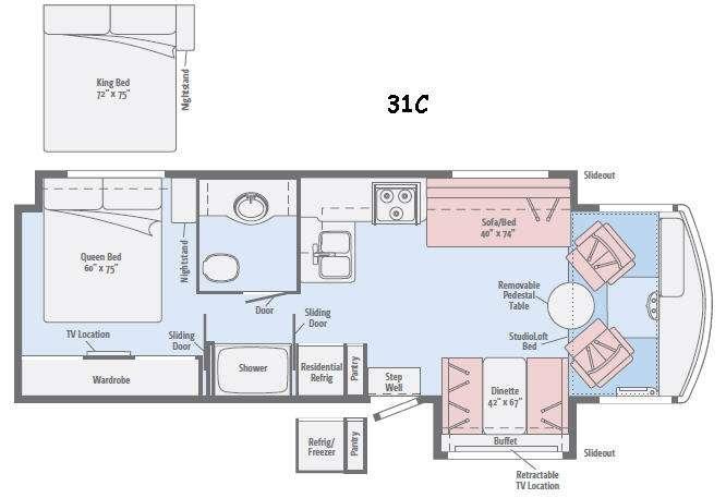 Floorplan - 2016 Winnebago Brave 31C