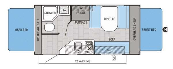 Jay Feather SLX 16XRB Floorplan Image