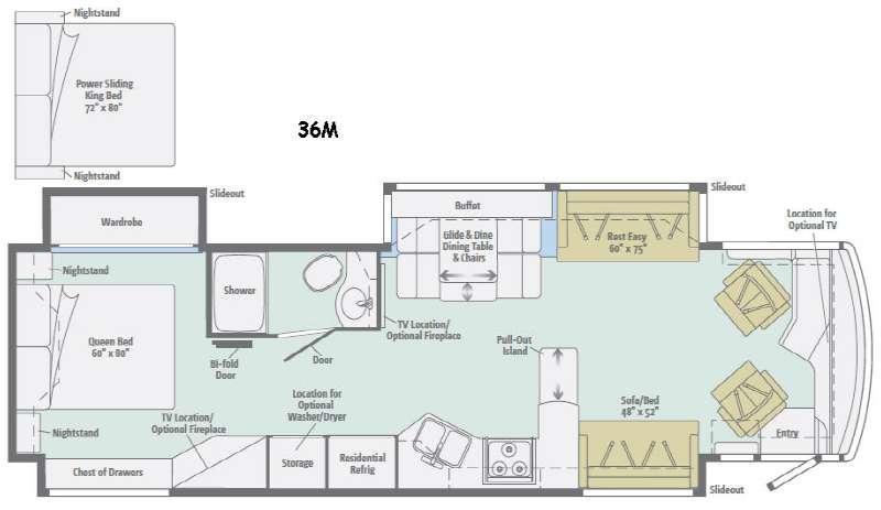 Floorplan - 2016 Itasca Meridian 36M