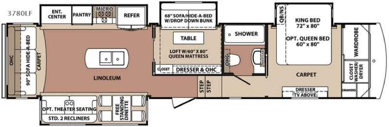 Floorplan - 2016 Forest River RV Blue Ridge 3780LF