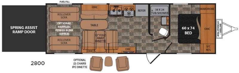 Floorplan - 2016 Dutchmen RV Rubicon 2800