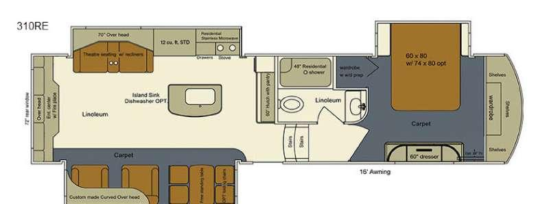 Floorplan - 2016 EverGreen RV Bay Hill 310RE