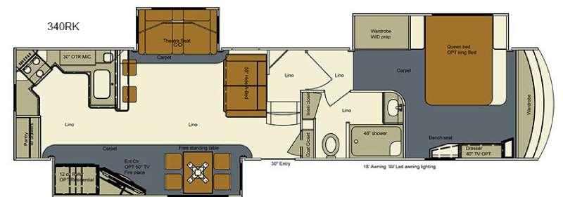 Floorplan - 2016 Bay Hill 340RK Fifth Wheel