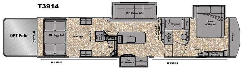 Floorplan - 2016 EverGreen RV Tesla 3914