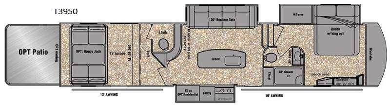 Floorplan - 2016 EverGreen RV Tesla 3950