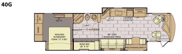 Floorplan - 2016 Fleetwood RV Discovery 40G