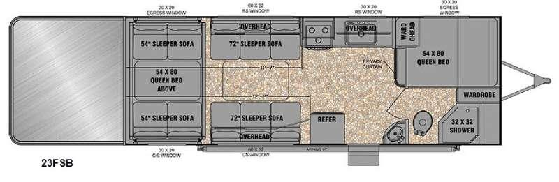 Floorplan - 2016 EverGreen RV Reactor 23FSB