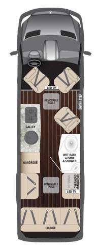 Interstate Lounge Lounge Wardrobe Floorplan Image