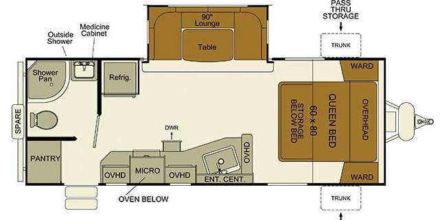 Floorplan - 2016 EverGreen RV i-Go G235RB