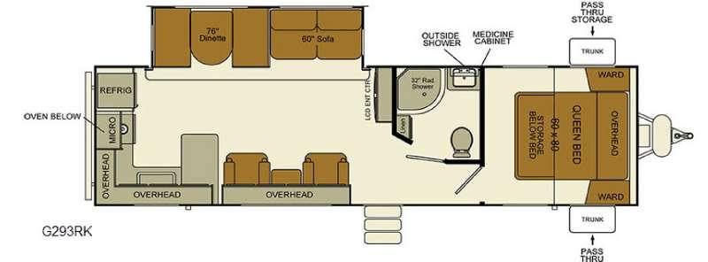 Floorplan - 2016 EverGreen RV i-Go G293RK