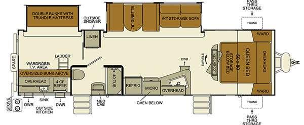 Floorplan - 2016 EverGreen RV i-Go G314BDS